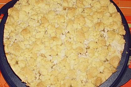 Rhabarberkuchen mit Vanillecreme und Streusel 187