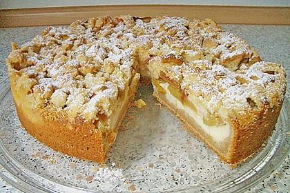 Rhabarberkuchen mit Vanillecreme und Streusel 39