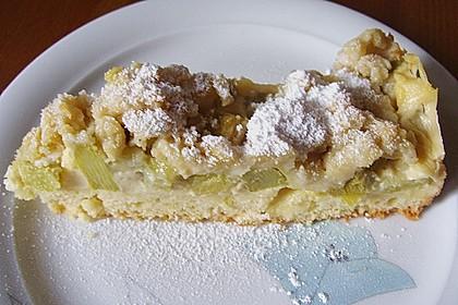 Rhabarberkuchen mit Vanillecreme und Streusel 119
