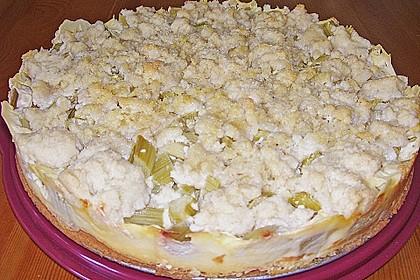 Rhabarberkuchen mit Vanillecreme und Streusel 138