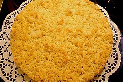 Rhabarberkuchen mit Vanillecreme und Streusel 108