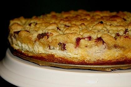 Rhabarberkuchen mit Vanillecreme und Streusel 103