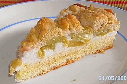 Rhabarberkuchen mit Vanillecreme und Streusel 8