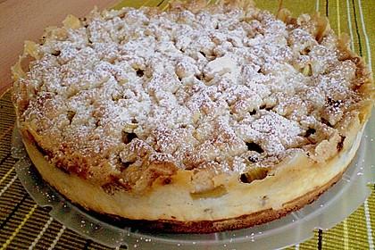 Rhabarberkuchen mit Vanillecreme und Streusel 101