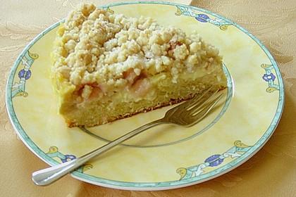 Rhabarberkuchen mit Vanillecreme und Streusel 123