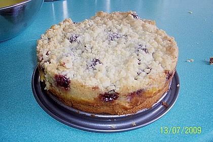 Rhabarberkuchen mit Vanillecreme und Streusel 180