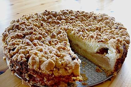 Rhabarberkuchen mit Vanillecreme und Streusel 117
