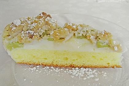 Rhabarberkuchen mit Vanillecreme und Streusel 71