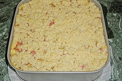 Rhabarberkuchen mit Vanillecreme und Streusel 112