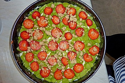 Rhabarberkuchen mit Vanillecreme und Streusel 183