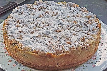 Rhabarberkuchen mit Vanillecreme und Streusel 95