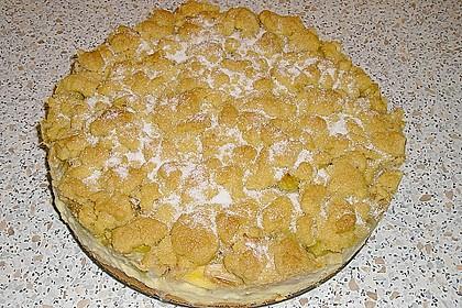 Rhabarberkuchen mit Vanillecreme und Streusel 80