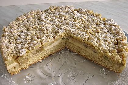 Rhabarberkuchen mit Vanillecreme und Streusel 27