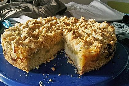 Rhabarberkuchen mit Vanillecreme und Streusel 107