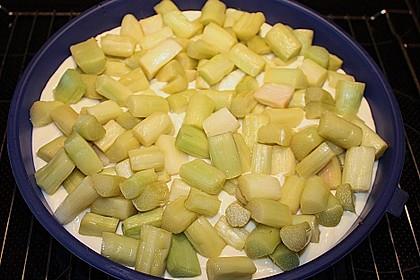 Rhabarberkuchen mit Vanillecreme und Streusel 191
