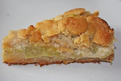 Rhabarberkuchen mit Vanillecreme und Streusel 36