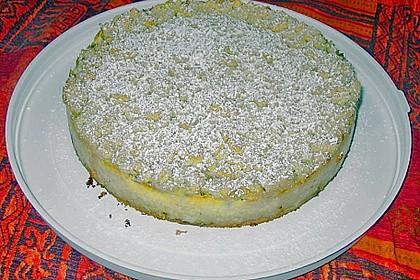 Rhabarberkuchen mit Vanillecreme und Streusel 190