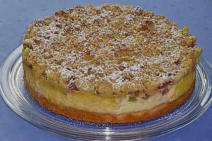 Rhabarberkuchen mit Vanillecreme und Streusel 38