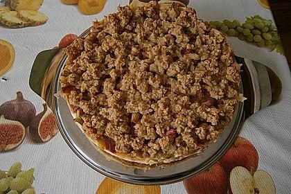 Rhabarberkuchen mit Vanillecreme und Streusel 127