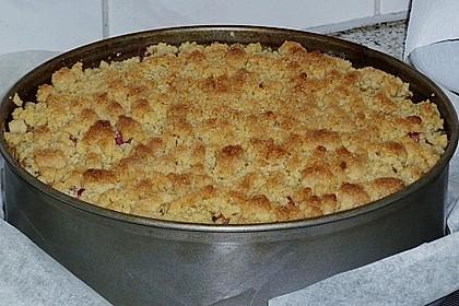 Rhabarberkuchen mit Vanillecreme und Streusel 143