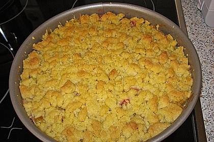 Rhabarberkuchen mit Vanillecreme und Streusel 122