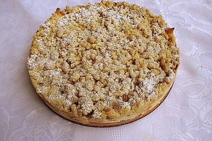 Rhabarberkuchen mit Vanillecreme und Streusel 84