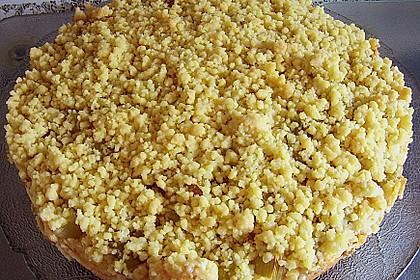 Rhabarberkuchen mit Vanillecreme und Streusel 74