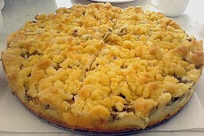 Rhabarberkuchen mit Vanillecreme und Streusel 179