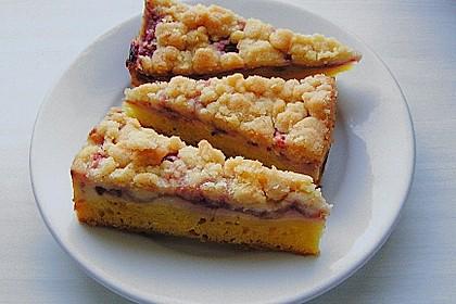 Rhabarberkuchen mit Vanillecreme und Streusel 73