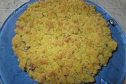 Rhabarberkuchen mit Vanillecreme und Streusel 173
