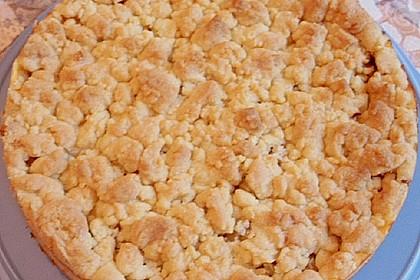 Rhabarberkuchen mit Vanillecreme und Streusel 125