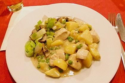 Kartoffelcurry mit Hähnchenbrustfilet