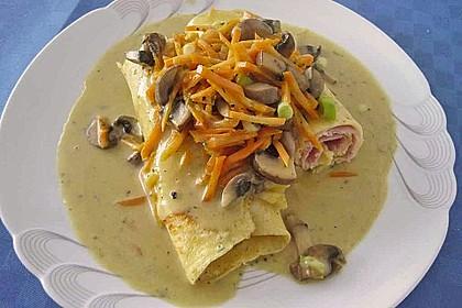Nudeln mit Champignon-Karotten-Sahnesauce 1