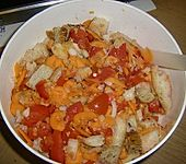 Schneller Fenchelauflauf mit Tomaten und altem Brot (Bild)