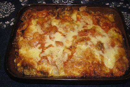 Schneller Fenchelauflauf mit Tomaten und altem Brot