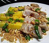 Mango in scharfer Salsa mit gedünstetem Thunfischfilet