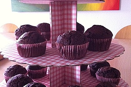 Schokoladige Schokomuffins