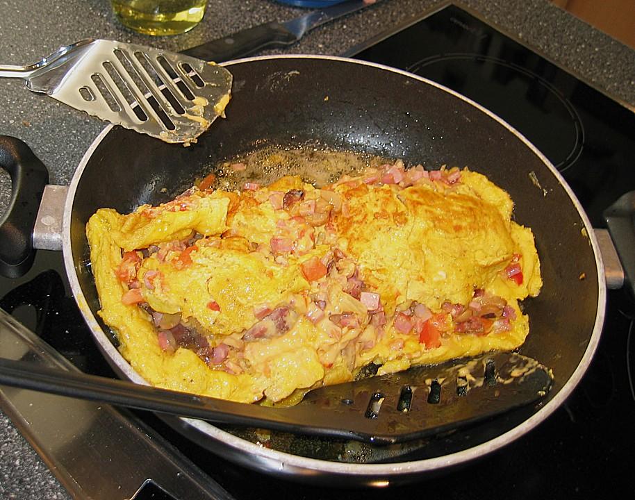 omelette mit schinken und salami rezepte. Black Bedroom Furniture Sets. Home Design Ideas