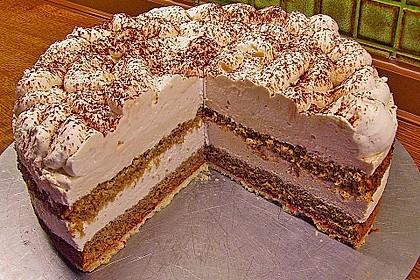Cappuccino Sahnecreme-Torte 2