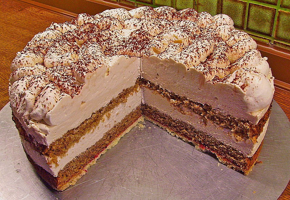 Rezept Sahnecreme-Torte mit Cappuccino