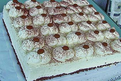 Cappuccino Sahnecreme-Torte