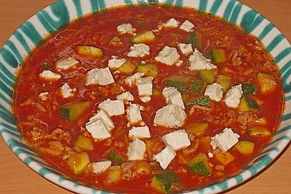 Zucchini-Reis Topf mit Hackfleisch und Feta 1