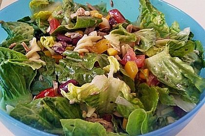 Nudel-Bohnensalat