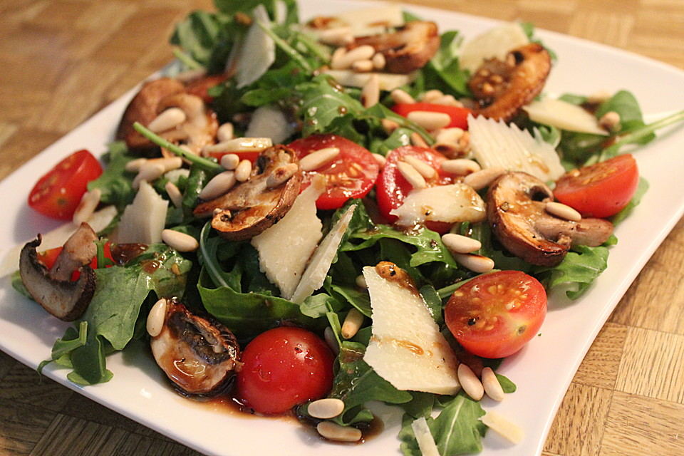 Rucola salat honig