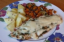 Pangasius überbacken mit Sauce Hollandaise