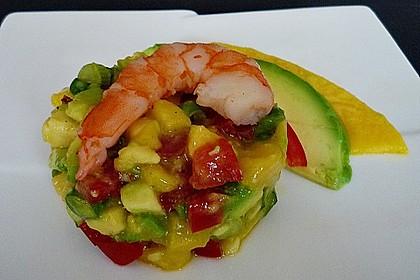 Avocado-Mango Salsa mit Garnelen 3