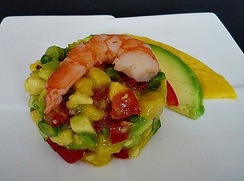 avocado mango salsa mit garnelen rezept mit bild. Black Bedroom Furniture Sets. Home Design Ideas