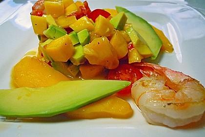 Avocado-Mango Salsa mit Garnelen 7