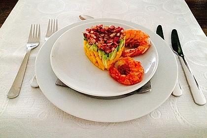 Avocado-Mango Salsa mit Garnelen 6