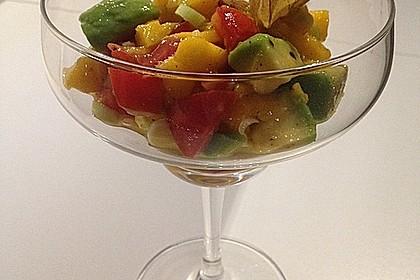 Avocado-Mango Salsa mit Garnelen 11